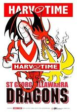 St George Illawarra Dragons Mascot Limited Edition Harv Time Print Paul Harvey