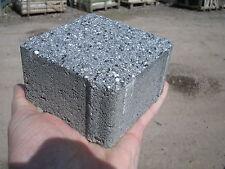 Paving Cobbles, Granite Effect Shot Blast Setts, Edgings, Black/Grey, Per 10