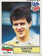 N°263 DIMITAR POPOV BULGARIA PANINI WORLD CUP 1994 STICKER VIGNETTE 94