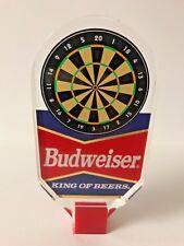 "Budweiser Beer Acrylic Tap Handle Dart Board - Darts - Vintage VGC & F/S ~ 6.25"""