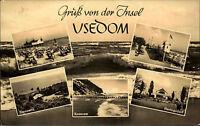 Insel Usedom DDR s/w Mehrbildkarte 1961 Ahlbeck Bansin Zinnowitz Heringsdorf u.a
