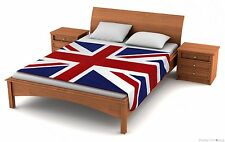 "Fuzzy Flags™ Fleece Union Jack Blanket 79"" x 49"" British Flag Travel Throw Cover"