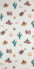 Rosedale Southwestern Wallpaper Cactus Sombrero Saddle 2 Double Rolls