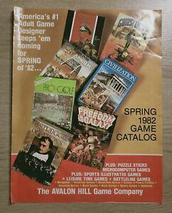 Avalon Hill Spring 1982 Game Catalog