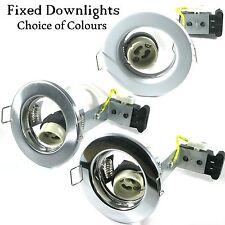 1 4 6 10 20 X GU10 MAINS 240V DOWNLIGHTS FIXED BEAM SPOTLIGHTS HALOGEN OR LED