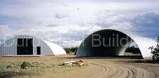 Durospan Steel 40x80x18 Metal Quonset Hut Diy Ag Building Kit Open Ends Direct