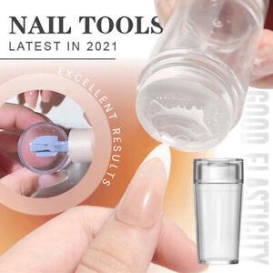 Clear Jelly Nail Stamper + Scraper Silicone Polish Stencil Template Manicure