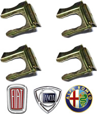 4X CLASSIC FIAT 500 126 900 600 BRAKE PIPE HOSE CLIP LANCIA ALFA ROMEO X1/9