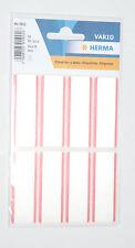 Herma 16 Stück Etiketten / Label / Aufkleber für Textilien - weiß/rot (NEU/OVP)