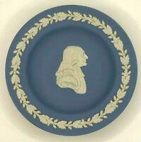 "John Wesley WEDGWOOD Blue Jasperware Cameo 4-3/8"" Round Plate"