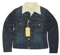 Wrangler Herren SHERPA Jeans JACKE Größe M -medium mit Teddyfutter W498Y564X NEU