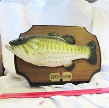 BIG MOUTH BILLY BASS Singing Fish Sensation Motion Gemmy 1999 UNTESTED