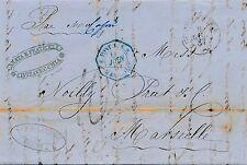 Lettre Rome Italie Civitavecchia E.PONT.1.S.E Marseille Cover French Italy