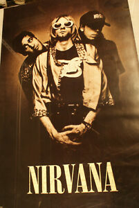Nirvana 1993 Poster 34 x 25 NOS + 2 Free Posters See In Description