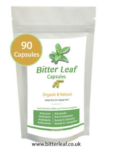Bitter Leaf Capsules - 90 Capsules 100% Organic - SEE VIDEO