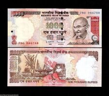 INDIA 1000 1,000 RUPEES GANDHI OIL RIG UNC INDIAN CURRENCY MONEY BANK NOTE