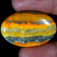 Fantastic 100% Natural Bumble Bee Eclipse Jasper Oval Cabochon Loose Gemstone