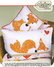 Foxies - Applique Sewing Craft PATTERN - Cushion Shabby Chic Fox