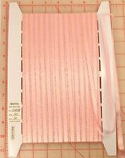 """33 yards vintage pastel pink satin ribbon metallic gold edges 10mm 7/16"""" Japan"""