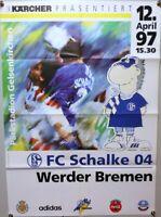 Offizielles Spielplakat + 12.04.1997 + BL + FC Schalke 04 vs. Werder Bremen #20
