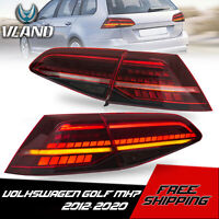 VLAND Tail Lights LED Sequential Indicator Red For 2014-2020 VW Golf MK7 7.5