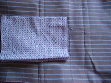 coupons tissu petites fleurs + rayures  bleu, gris