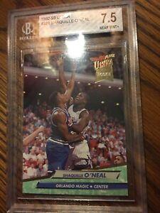 SHAQUILLE O'NEAL 1992-93 Fleer Ultra Rookie RC #328 Beckett MINT Graded 7.5