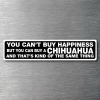 Buy a Chihuahua sticker quality 7 year water & fade proof vinyl dog breed pup