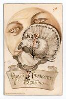 1911 Vintage John Winsch Schmucker Thanksgiving Man on Moon (Rare Gold Version)