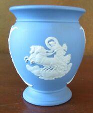 "Blue Wedgwood Jasperware Selene and Stealing Love 3 ¾"" Urn Vase"