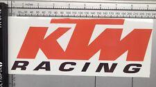 KTM Racing STICKER Motorbike Cycle Club Team Bike Road Project Parts Custom