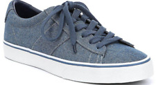 $80 size 7.5 Polo Ralph Lauren Sayer Chambray Trainers Blue Sneaker Mens Shoes