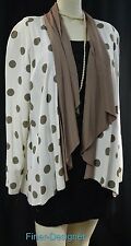 Marnie West waterfall open JACKET long shrug duster layer top blazer M L NEW VTG