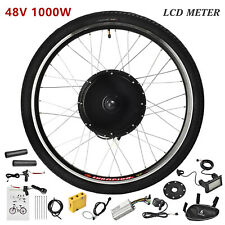 48V 1000W Electric Bicycle Rear Wheel E-Bike Motor Kit Conversion Cycling w/LCD