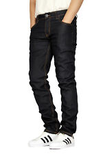 MEN'S STRETCH SKINNY UNWASHED RAW DENIM JEANS VICTORIOUS 8 COLORS DL938