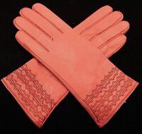 Damen  Echt Leder Handschuhe Gefüttert  Gr  S   M   L   XL   XXL  //L//26