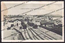 BRESCIA DESENZANO DEL GARDA 33 INTERNO STAZIONE - TRENO - FERROVIA - PORTO 1918