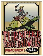 TURNPIKE TROUBADOURS 2014 WICHITA CONCERT TOUR POSTER - Country /Folk Rock Music