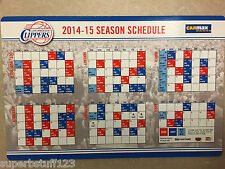 LA Clippers 2014-2015 Official Season Schedule Magnet NBA Los Angeles New SGA
