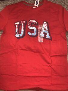 Nwt Boys XL (14/16) Old Navy USA Red Tye Dye