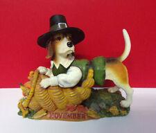 Danbury Mint November Calendar Perpetual Thanksgiving Beagle Dog Figurine