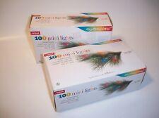 NOMA 100-Ct Multicolor Christmas Light Set Mini Lights Superbrite 37'ea Lot of 2