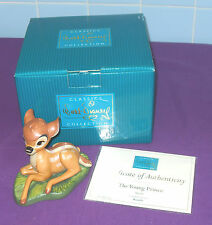 Now Dscontinued Walt Disney Classics Collection Bambi Figurine The Young Prince