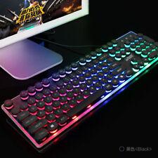 Backlit Gaming-USB-Tastatur-Multimedia Beleuchtete Farbige LED-USB für PUBG