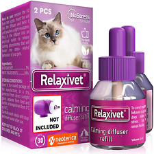 Relaxivet Natural Cats&Dogs Calming Pheromone Diffuser Refills - Improved No-Str