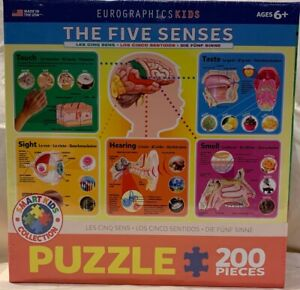 Eurographics Kids Easy Jigsaw Puzzle The Five Senses 200 pieces NEW Sealed