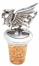 Welsh Dragon Handcrafted From English Pewter Bottle Stopper + Gift Bag