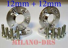 4 DISTANZIALI RUOTA 12+12mm AUDI A3 - S3 (8P) 2003 / 2012 Bullone SFERICO