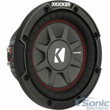 "(2) KICKER 43CWRT102 1600W 10"" CompRT10 2016 Shallow Mount Car Subwoofers"