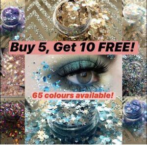 CHUNKY Festival Glitter Face Eye Body Hair Tattoo Cosmetic BUY 5 GET 10 FREE 2g